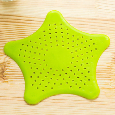 Star Shape Plastic Kitchen Mint Plan Bath Shower Drain Cover Waste Sink Strainer Hair Filter Catcher House Gadgets Pet Cleaning