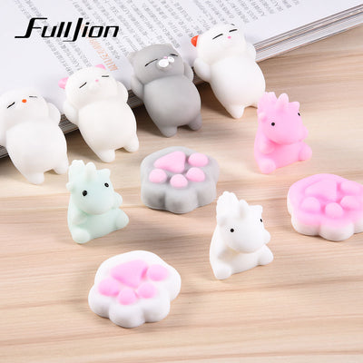 Fulljion Squishy Cat Unicorn Antistress Slime Entertainment Stress Relief Toys For Children Gadget Fun Squeeze Healing Soft Cute