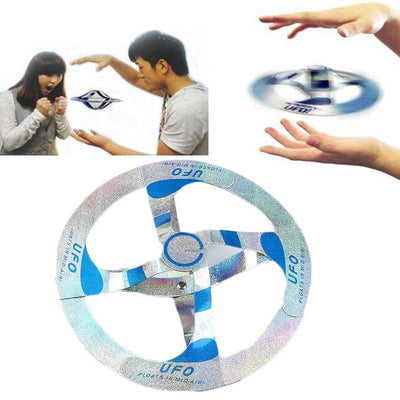 Magic Amazing Mystery UFO Floating Disk Trick Creative Adult Children Baby Toy White And Black Jokes Funny Gadgets Prank
