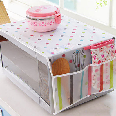 Microwave Oven Covers Kitchen Gadgets Home Storage Organization Bag Waterproof Easy To Clean Bulk Accessories Supplies