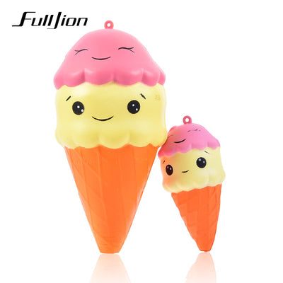 Fulljion Antistress Squishy Slow Rising Ice Cream Entertainment Novelty Gag Toys For Children Stress Relief Funny Gadget Gifts
