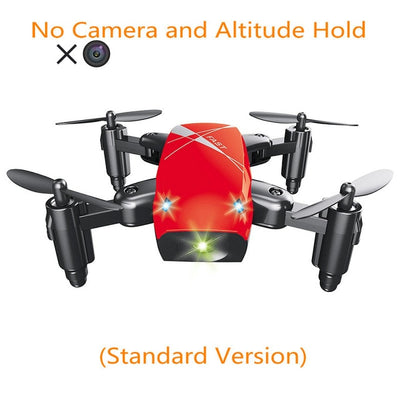 Mini Drone with Camera HD Foldable RC Quadcopter Altitude Hold RC Helicopter WiFi FPV Micro Pocket  Aircraft Toys for Kids