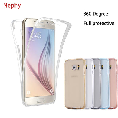 Nephy Clear Soft Phone Case For Samsung Galaxy A6 A8 Plus 2018 A3 A5 A7 J1 J3 J5 J7 2015 2016 2017 Neo Prime Silicone Full Cover
