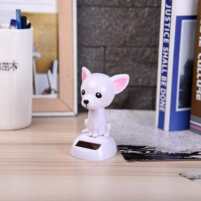 1Pc Solar Power Non Electric Educative Toys Shaking Head Pet Dog Cat Animals Say Hello for Children Games Gifts Car Gadget Decor