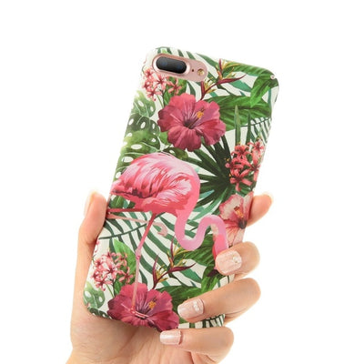 KISSCASE Artistic Leaf Case For iPhone 7 8 Plus Flower Pattern Hard PC Case For iPhone X XS Max XR 6s 6 7 Plus Phone Accessories