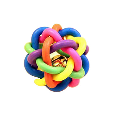 Hoomall Colorful TRP Ball Cats Dog Toy With Bell Home Palying Squeak Toys For Dogs Puppy Kitten Bite Resistant Pet Gadgets