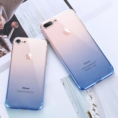 KISSCASE Colorful Phone Case For iPhone 6 6s 7 8 Plus X Xr Xs Max Ultra Thin Soft TPU Back Cases For iPhone 5s 5 SE Cover Conque