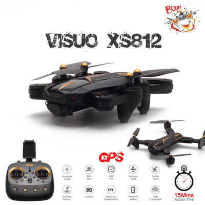VISUO XS812 GPS RC Drone with 2MP/5MP HD Camera 5G WIFI FPV Altitude Hold One Key Return Quadcopter RC Helicopter VS SG900 Dron