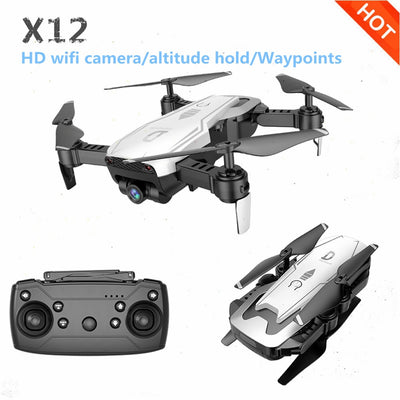 Newest X12 Drone With 0.3MP/2MP Wide Angle HD Camera FPV Mini Drone Headless Mode RC Quadcopter Helicopters VS E58 Dron