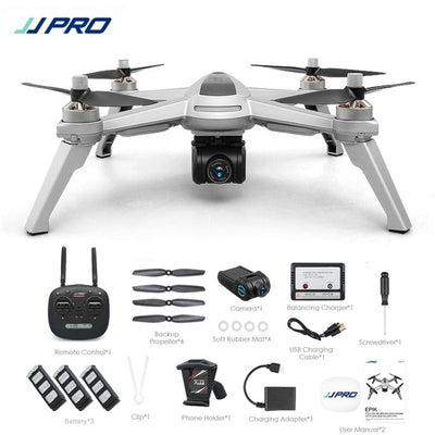 Free Gifts! JJRC JJPRO X5 5G GPS WIFI FPV With 1080P HD Camera Max 18 Mins Follow Me Altitude Hold RC Drone Quadcopter RTF