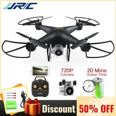 JJRC H68 Professional Drone with Camera 720P HD Wifi FPV RC Quadcopter Helicopter for Kids Toys Gift 20 Minutes Playing Time