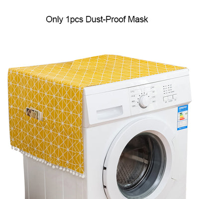 Home Washing Machine Covers Storage Organizer Waterproof Washer Refrigerator Dust Cover Pockets Protector Mask  Home Gadgets