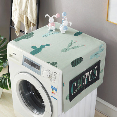 idYllife Washing Machine Covers lavatrice Cover Nordic Style Cacti Print home gadgets Dust Covers Protective Case fridge  Cover