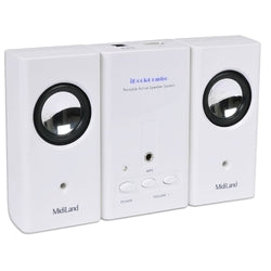 iDock Combo MSP-961 Portable Active Stereo Speaker System w/Line-In/Out & USB Charge Port (White)