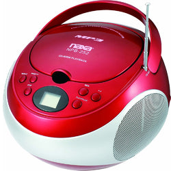 Naxa Portable MP3/CD Player with AM/FM Stereo Radio- Red