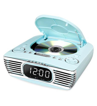 Bluetooth Bedside Stereo, CD, FM, Teal