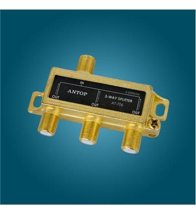 Antop 3-Way Splitter, All Port Pass