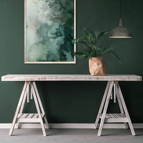 Wood Wash ADJ 2 Meter Trestle Dining Table