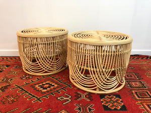 Rattan Drum Table