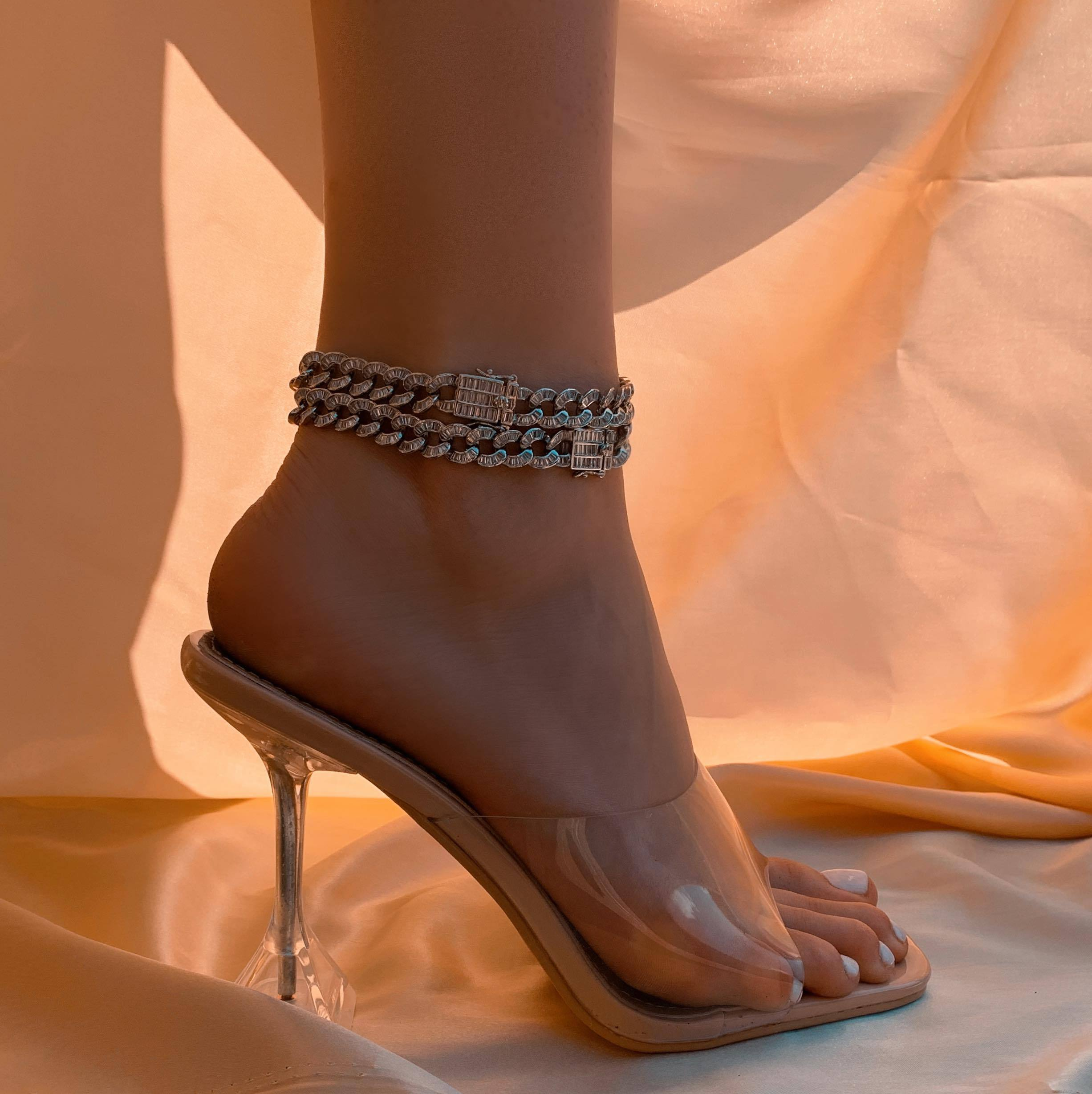 Baguette Chain Anklet - House of Carats