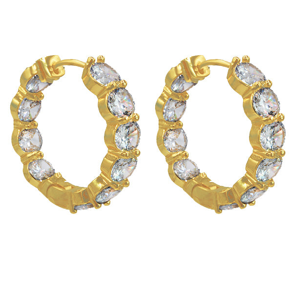 Brilliance Earrings Gold - House of Carats