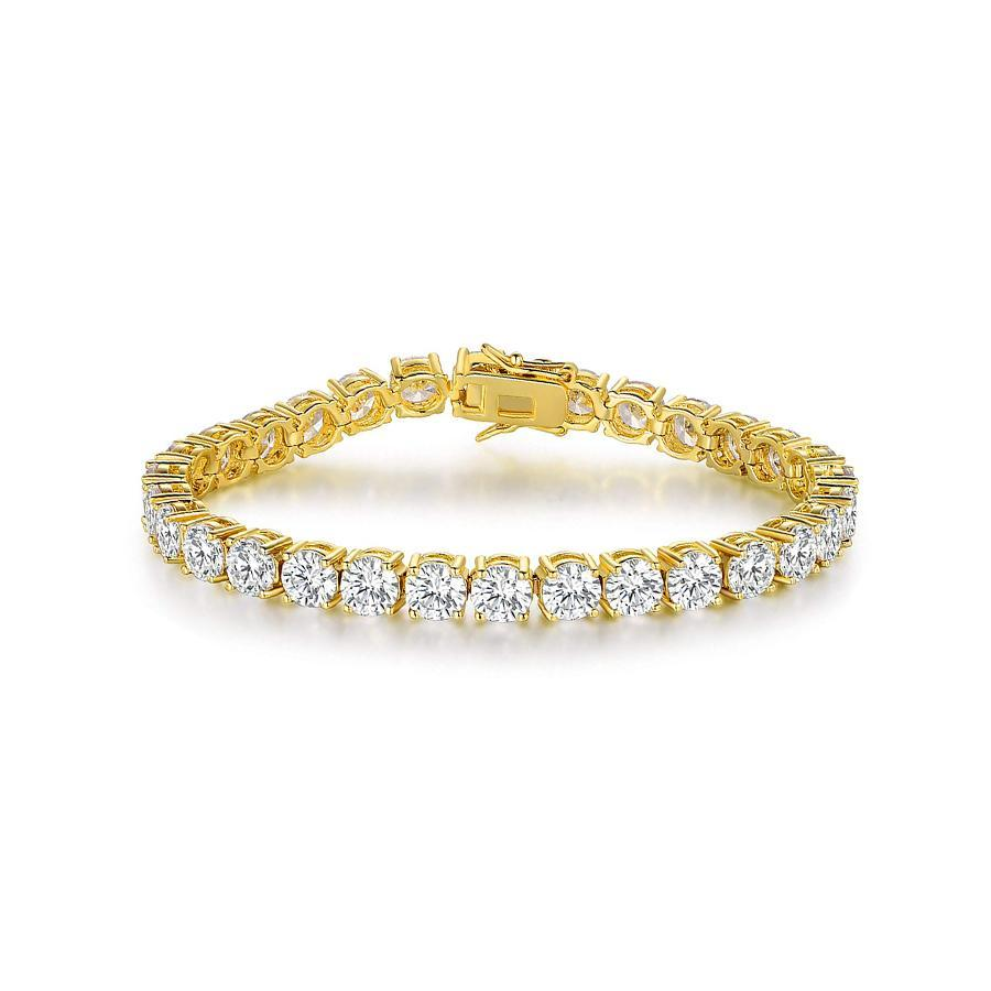 Brilliant Cut Tennis Bracelet Gold
