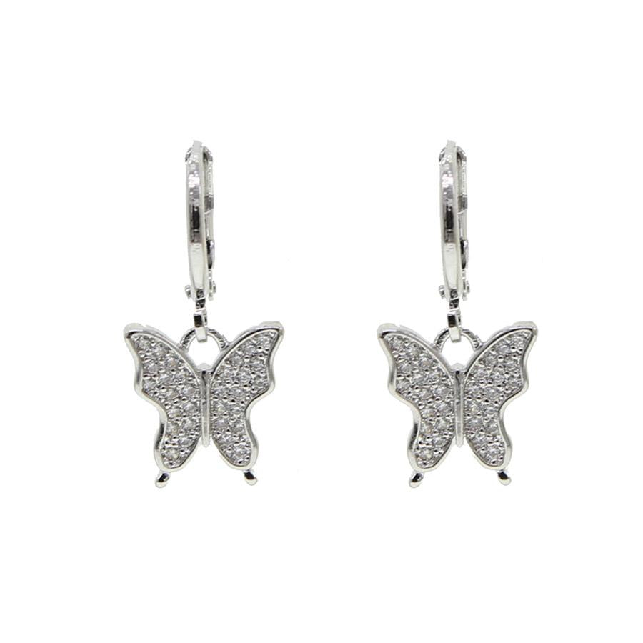 Butterfly Charm Huggies