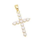 Iced Cross Necklace - House of Carats