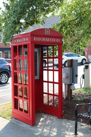 Davidson, NC - red phone booth