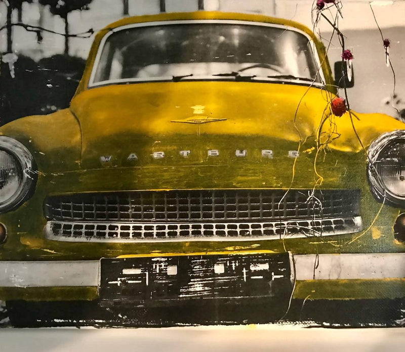 "10x8 Mixed media Oil Painting - ""Vintage Car"""