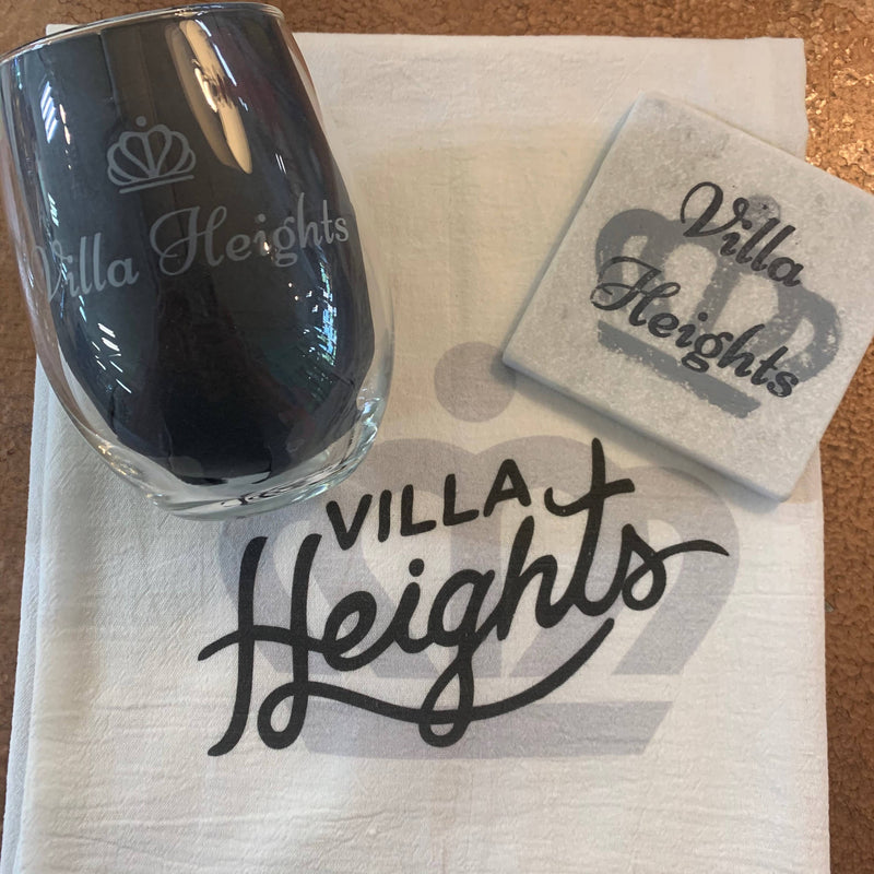 Villa Heights Wine Glass