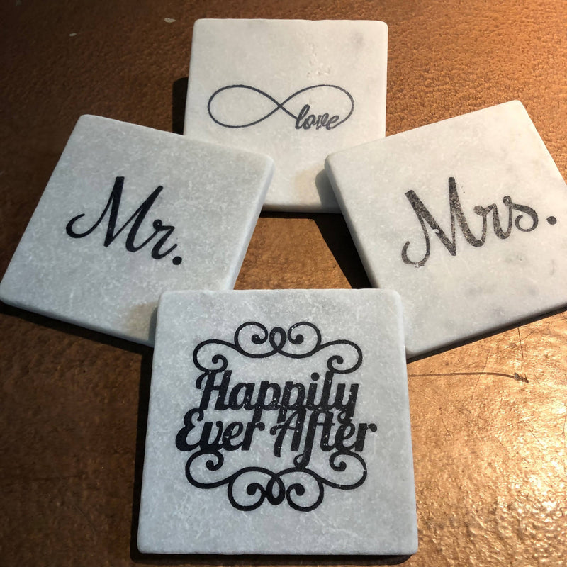 Marble Wedding Coaster, Mrs.