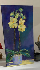 Amazing Orchid Oil Painting
