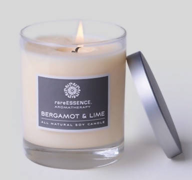 Rare Essence Candle, Bergamot and Lime
