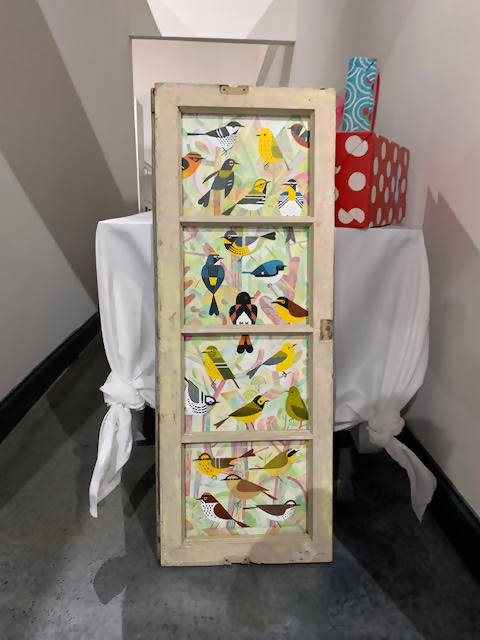 Gorgeous Hand Painted Bird Window