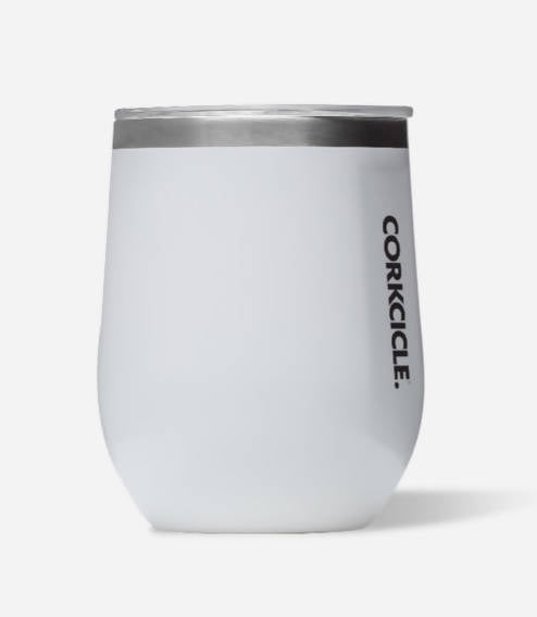 Stemless Corkcicle, White