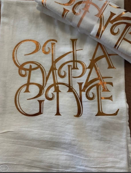 Gold Charlotte Towel