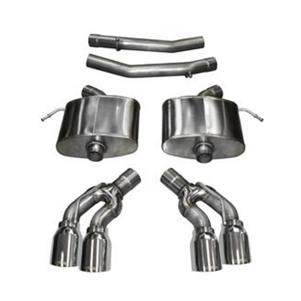 "Corsa 16-18 Cadillac CTS-V Sedan, 6.2L V8 2.75"" Dual Rear Exit Axle-Back Exhaust System with Twin 4.0"" Tips Xtreme Sound Level"