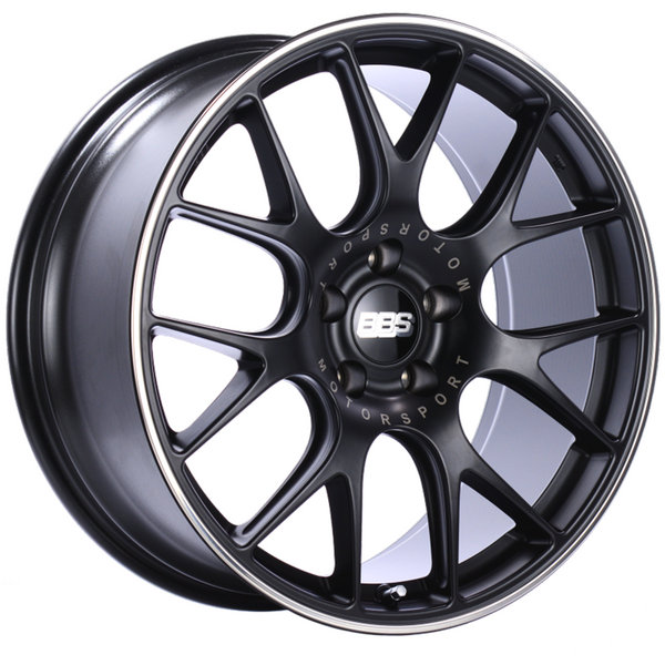 BBS CH-R 20x9 5x112 ET25 Satin Black Polished Rim Protector Wheel