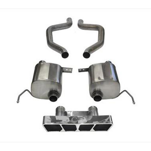 "Corsa 15-18 Chevrolet Corvette 2.75"" Dual Rear Exit Axle-Back Exhaust System with Polygon Tip Sport Sound Level"