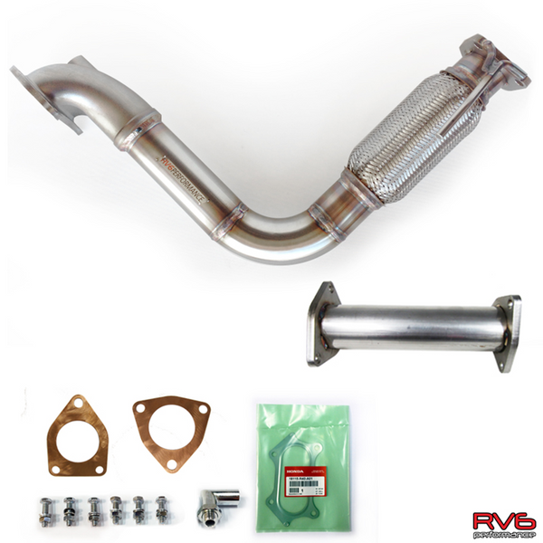 RV6 PCD / Downpipe & Test Pipe Combo for 08-12 Accord I4 (2.4L)