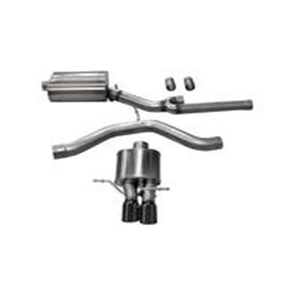 "Corsa 00-02 Audi S4 B5 2.7T 2.5"" Single Rear Exit Cat-Back Exhaust System with Twin 3.0"" Tip Sport Sound Level"
