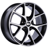 BBS SR 18x8 5x112 ET45 Satin Black Diamond Cut Face Wheel