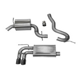 "Corsa 06-14 Audi A3 8P 2.0T - 3.0"" Single Rear Exit Cat-Back Exhaust System with Twin 3.0"" Tips Touring Sound Level"