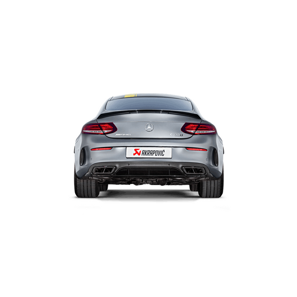 Akrapovic 16-17 AMG C63 Coupe Evolution Line Cat Back (Titanium) w/ Carbon Tips