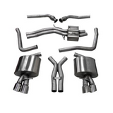 "Corsa 08-14 Audi S5 B8, 4.2L V8 2.5"" Dual Rear Exit Cat-Back with Twin 3.5"" Tips Sport Sound Level"