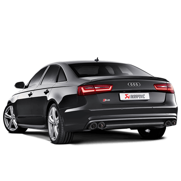 Akrapovic 13-17 Audi S6 Avant/Limousine (C7) Evolution Line Cat Back (Titanium) w/ Carbon Tips