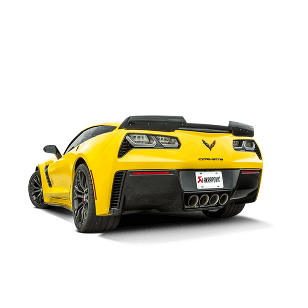 Akrapovic 14-17 Chevrolet Corvette Stingray (C7) Slip-On Line (Titanium) w/ Carbon Tips