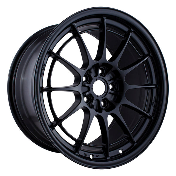 Enkei NT03+M 18x9.5 5x114.3 40mm Offset 72.6mm Bore Black Wheel G35/350Z