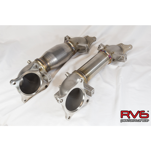 RV6 High Temp Catted Downpipe for 17+ Civic Type-R 2.0T FK8